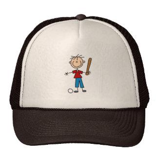 Figura gorra del palillo del muchacho