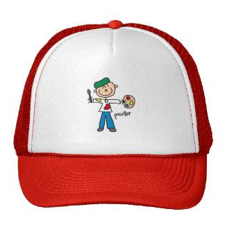 Figura gorra del palillo del pintor