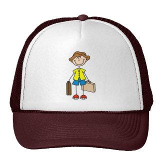 Figura gorra del palillo del veraneante