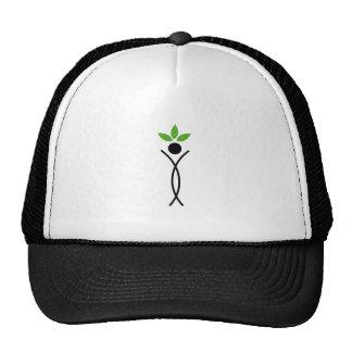 Figura humana con las hojas verdes gorros bordados
