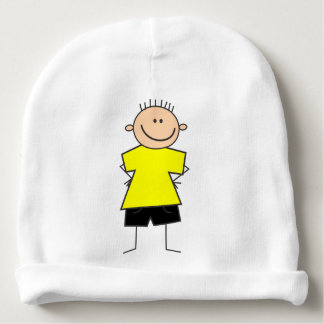 Figura linda gorra del palillo del muchacho del gorrito para bebe