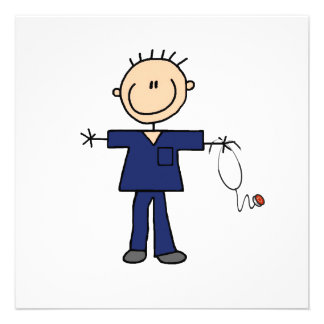 Figura masculina enfermera - azul del palillo comunicados