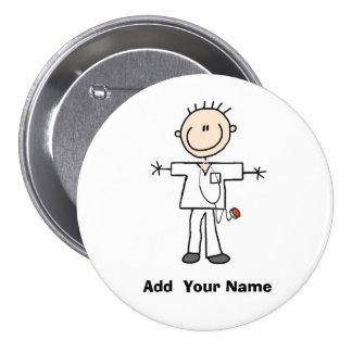 Figura masculina personalizada botón del palillo d