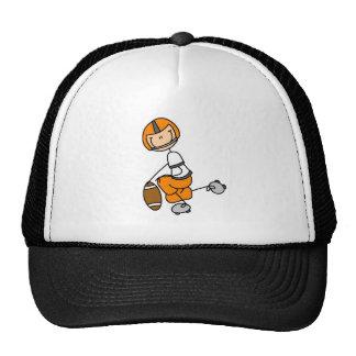 Figura naranja del palillo del fútbol gorras de camionero