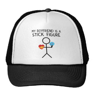 Figura novio del palillo gorras de camionero