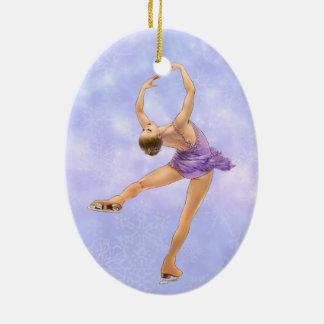 Figura ornamento del patinador