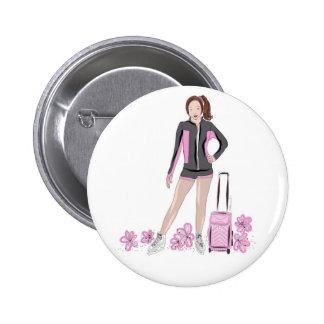 Figura patinador con el bolso de Zuka Chapa Redonda De 5 Cm