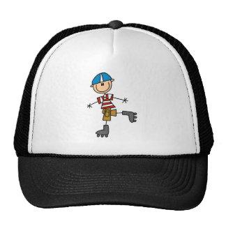 Figura patinaje sobre ruedas del palillo gorras