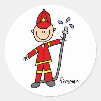 Figura pegatina del palillo del bombero