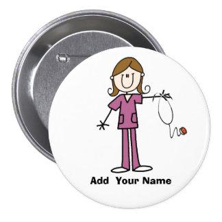 Figura personalizada botón del palillo del pelo de pin