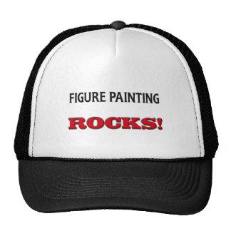 Figura rocas de la pintura gorro de camionero