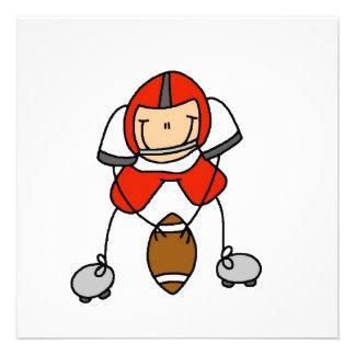 Figura rojo del palillo del fútbol comunicados personales