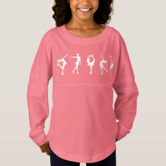 Figura rosa largo de los chicas de la manga de los camiseta spirit