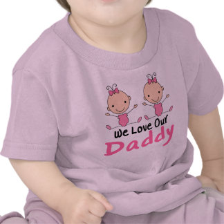 Figura rosada bebés del palillo de los chicas camiseta