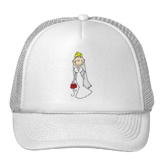 Figura rubia gorra del palillo de la novia