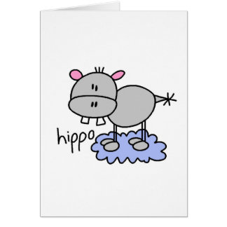 Figura tarjeta del palillo del hipopótamo