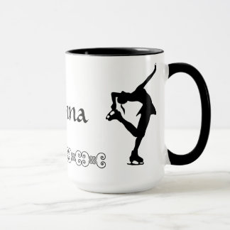 Figura taza del patinador - NOMBRE