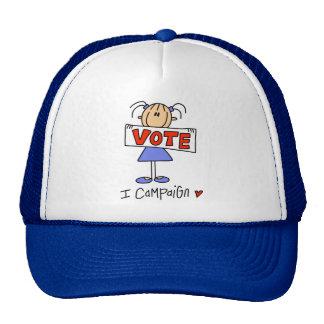Figura trabajador de campaña del palillo gorras