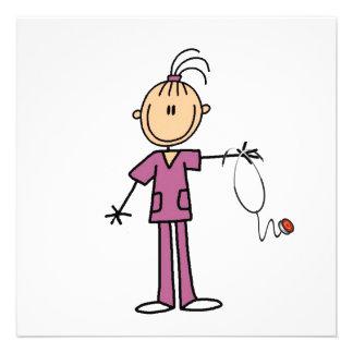 Figura triguena enfermera del palillo comunicados personales