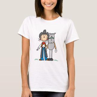 Figura vaquera del palillo con las camisetas del