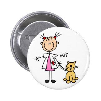 Figura veterinaria botón del palillo