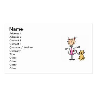 Figura veterinaria del palillo tarjeta de visita