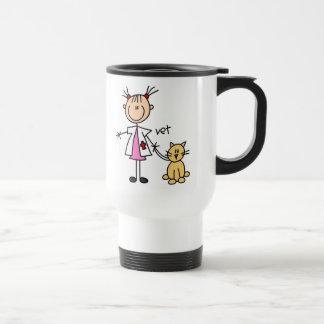 Figura veterinaria del palillo taza de café
