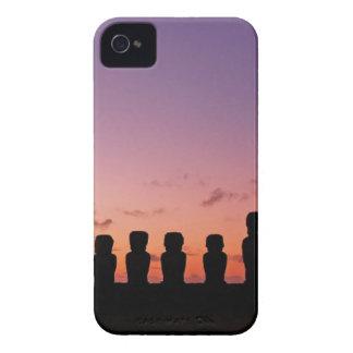 Figuras de Chile en la puesta del sol Funda Para iPhone 4 De Case-Mate