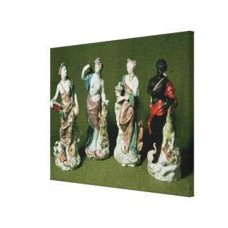 Figuras de la porcelana de Plymouth de los cuatro Lona Estirada Galerías