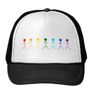 Figuras del palillo del arco iris gorros bordados