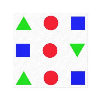 figuras geométricas décor del color impresión en lienzo