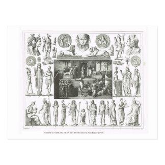 Figuras religiosas y mitológicas de Egipto Postal