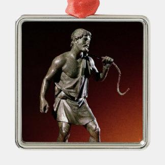 Figurilla de Lararium de un portador de agua Adorno Navideño Cuadrado De Metal