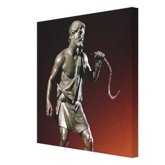 Figurilla de Lararium de un portador de agua Lona Envuelta Para Galerías