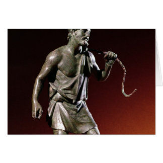 Figurilla de Lararium de un portador de agua Tarjeta De Felicitación