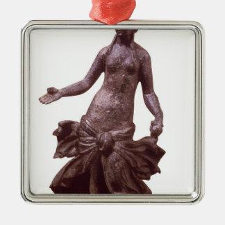 Figurilla de Venus, tarde 1r o del siglo II Adorno Navideño Cuadrado De Metal