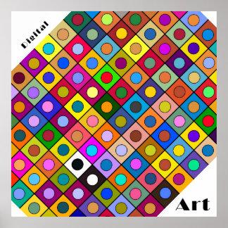 """Fijar cuadrado Imaginación II """"Digital Arte """" Póster"""
