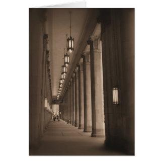 Fila de pilares - teatro de la ópera cívico - tarjeta de felicitación