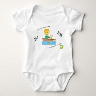 Fila linda de la poesía infantil del mono del bebé body para bebé