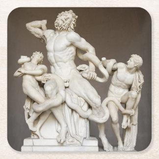 Filiique de Laocoön por el orarium Neptuni Posavasos De Papel Cuadrado