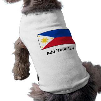Filipinas - bandera filipina camiseta sin mangas para perro