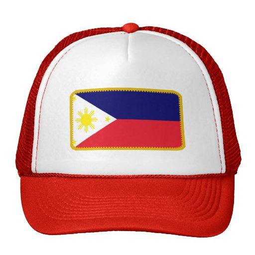 Filipinas señalan el gorra bordado del efecto por