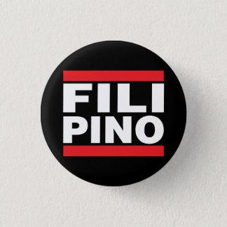 """Filipino del icono 1 1/4"""" botón"""