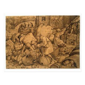Filisteo de Pieter Bruegel la anciano Postal