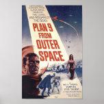 """Filme el poster """"plan 9 del espacio exterior """""""