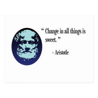 Filosofía de Aristóteles - cambie es postal dulce