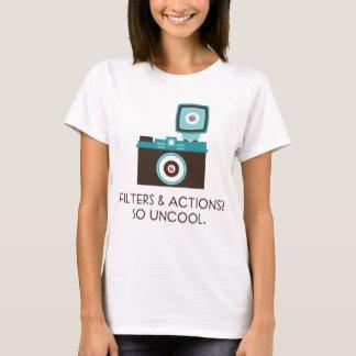 ¿Filtros y acciones? Tan nada sofisticado. Camiseta