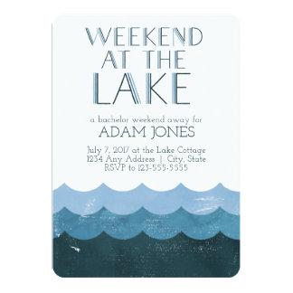 Fin de semana en la despedida de soltero del lago invitación 12,7 x 17,8 cm