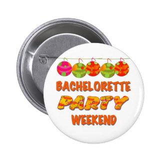 Fin de semana tropical del fiesta de Bachelorette Pin
