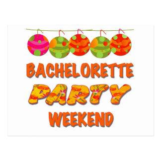 Fin de semana tropical del fiesta de Bachelorette Postal